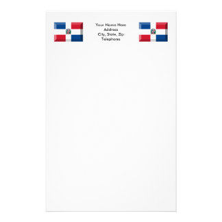 Dominican Republic Flag Jewel Stationery