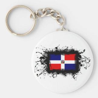 Dominican Republic Flag Keychain
