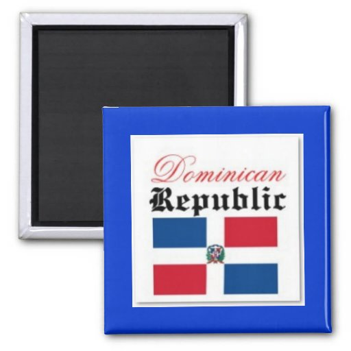 Dominican Republic flag Magnets