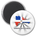 Dominican Republic Flag Map 2.0 Fridge Magnets
