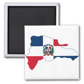 Dominican Republic Flag Map DO Fridge Magnets