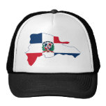 Dominican Republic Flag Map DO Mesh Hat