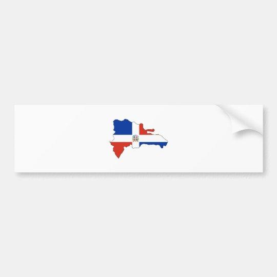 Dominican Republic Flag Map full size Bumper Sticker