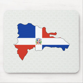 Dominican Republic Flag Map full size Mousepads