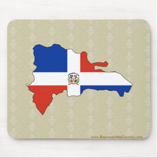 Dominican Republic Flag Map full size Mousepad