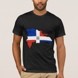 Dominican Republic Flag Map full size T-Shirt