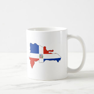 Dominican Republic flag map Classic White Coffee Mug