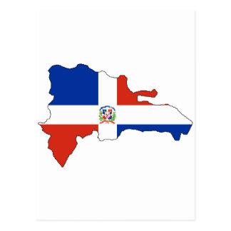 Dominican Republic flag map Postcard
