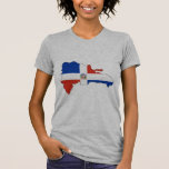 Dominican Republic flag map Tshirt