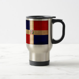 Dominican Republic Flag 15 Oz Stainless Steel Travel Mug