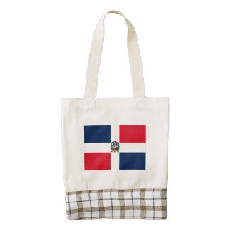 Dominican Republic Flag Oil Painting Zazzle HEART Tote Bag