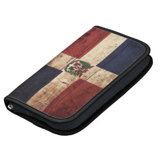 Dominican Republic Flag on Old Wood Grain Planner