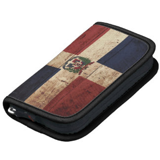 Dominican Republic Flag on Old Wood Grain Organizer