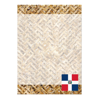 Dominican Republic Flag on Textile themed Card