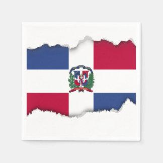 Dominican Republic Flag Paper Napkin