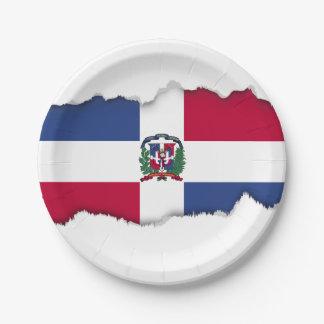 Dominican Republic Flag Paper Plate