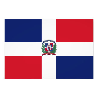 Dominican Republic Flag Photo Art