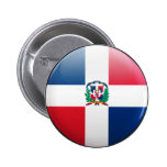 Dominican Republic Flag Pinback Button