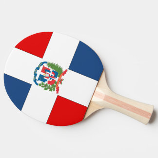Dominican Republic Flag Ping-Pong Paddle