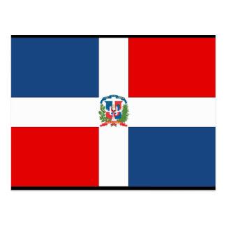 Dominican Republic Flag Post Card