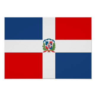 Dominican Republic Flag Poster