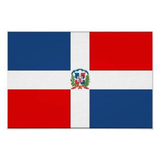 Dominican Republic Flag Poster