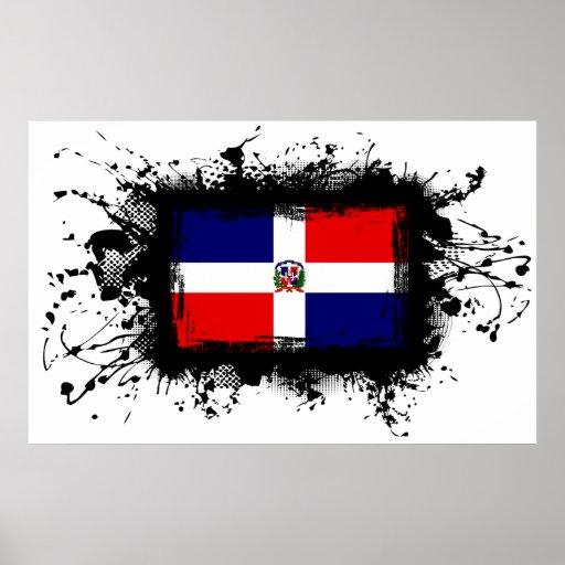 Dominican Republic Flag Print