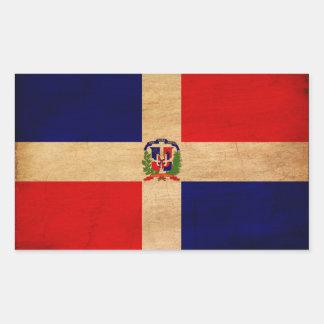 Dominican Republic Flag Rectangular Sticker