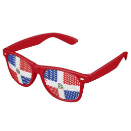 Dominican Republic Flag Retro Sunglasses