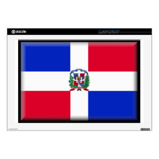 """Dominican Republic Flag Skin For 17"""" Laptop"""