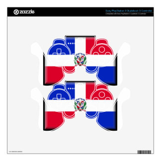 Dominican Republic Flag Skins For PS3 Controllers