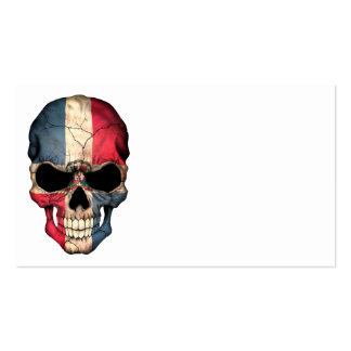 Dominican Republic Flag Skull Business Card Templates