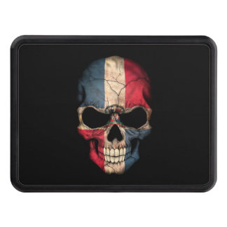Dominican Republic Flag Skull on Black Hitch Covers