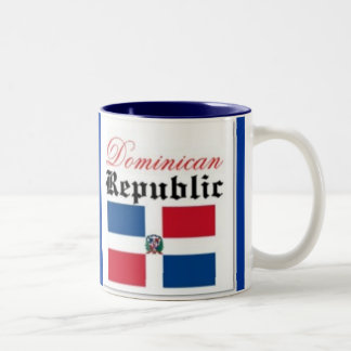 Dominican Republic flag Two-Tone Coffee Mug