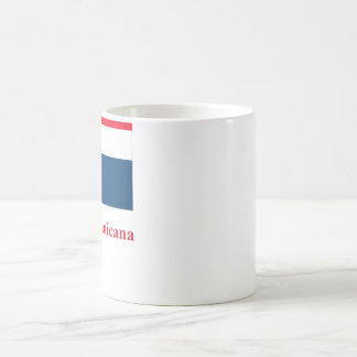 Dominican Republic Flag with Name in Spanish Classic White Coffee Mug