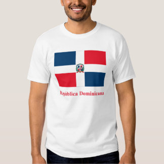 Dominican Republic Flag with Name in Spanish Tee Shirt