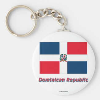 Dominican Republic Flag with Name Keychain