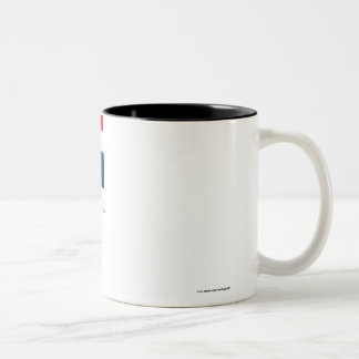 Dominican Republic Flag with Name Two-Tone Coffee Mug