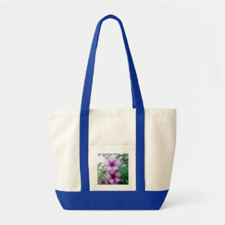 Dominican Republic Flowers Canvas Bags
