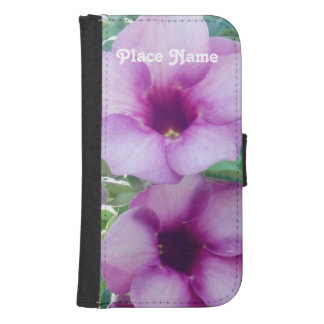 Dominican Republic Flowers Galaxy S4 Wallet Cases