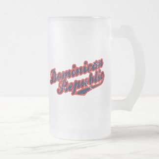 Dominican Republic Frosted Glass Beer Mug