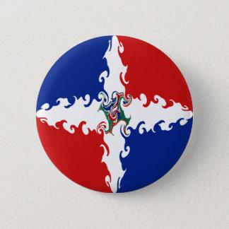 Dominican Republic Gnarly Flag Button