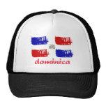 Dominican republic grunge flag mesh hats