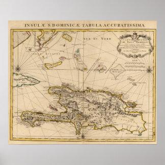 Dominican Republic, Haiti, West Indies Poster