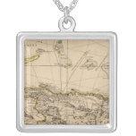 Dominican Republic, Haiti, West Indies Square Pendant Necklace
