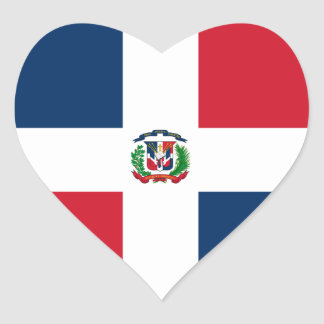 Dominican Republic Heart Flag Heart Sticker