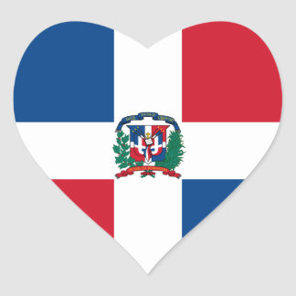 dominican republic heart sticker