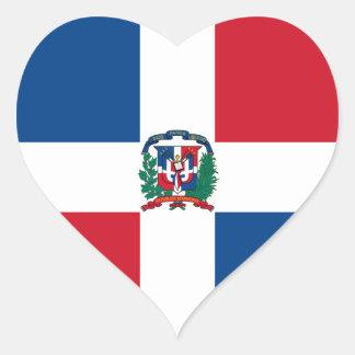 dominican republic heart sticker