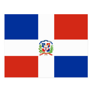 Dominican Republic High quality Flag Postcard