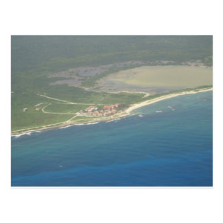 Dominican Republic Hispanola Aerial View Postcard